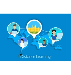Distance learning vector