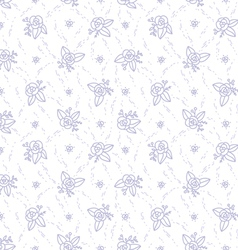 Little purple roses seamless pattern vector