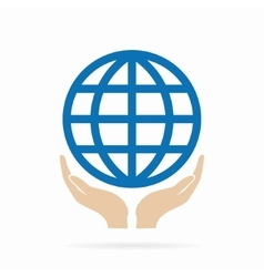 Earth in hand logo or icon vector