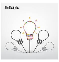 Creative light bulb and leader concept vector