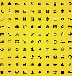 100 delivery icons vector