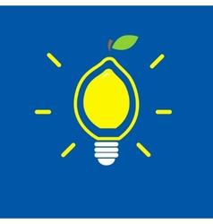 Lemon bulb vector