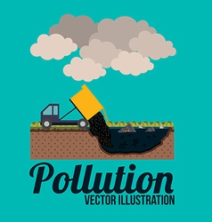 Pollution design over blue background vector