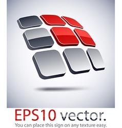3d modern solar battery logo icon vector