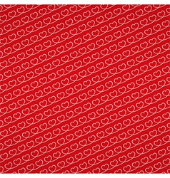 Red background with hearts vector