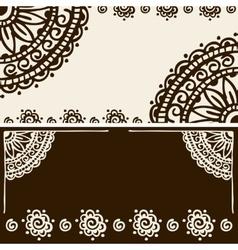 Banner mehendi ornament vector