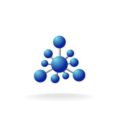 Abstract molecular structure symbol vector