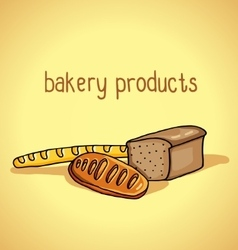Bakery products vector