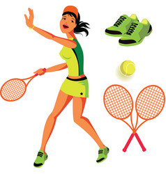 Tennis set vector
