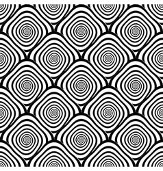 Design seamless monochrome twirl pattern vector