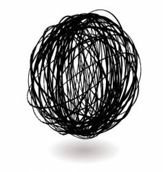 Scribble ball vector