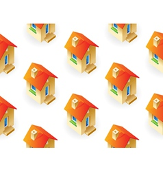 Houses on white background vector