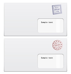 Envelopes with a stamp vector