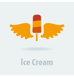 Ice cream symbol vector