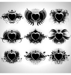 Heart forms vector
