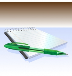 Pen and notebook vector