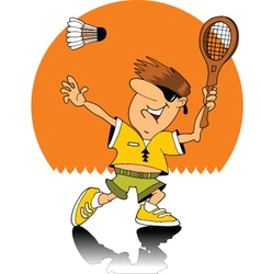 Badminton player vector