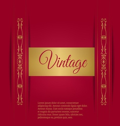 Royal vintage on a burgundy background vector