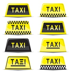 Taxi sign set vector