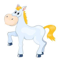 White mad horse vector