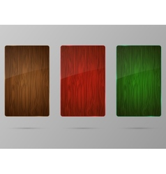 Wood framework set vector