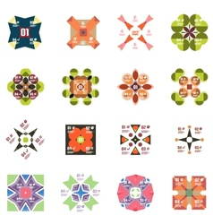 Set of geometric info templates vector