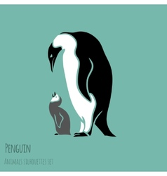 Black and white penguin vector
