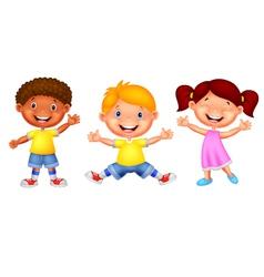 Happy young children vector