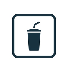 Coffee icon rounded squares button vector