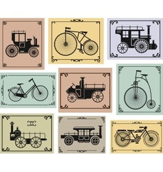 Bikes and cars vector