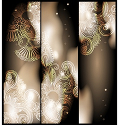 Abstract banner with floral ornament vector