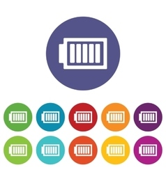 Charged battery icon set vector