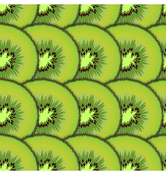 Sliced kiwi fruit vector