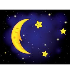 Moon stars vector