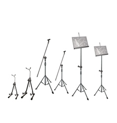 Music microphone guitar stand vector