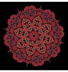 Ornamental colorful mandala of red color vector