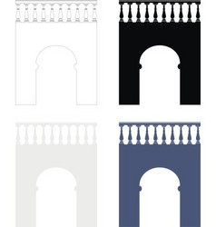 Ancient bridge vector