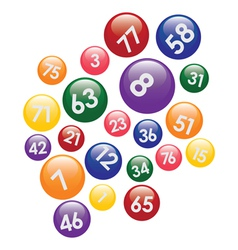 Coloured lottery balls vector
