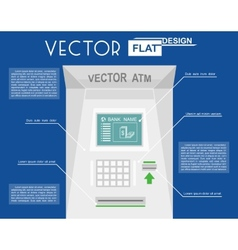 Atm flat infographic vector