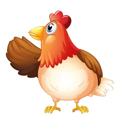 Cartoon hen vector