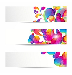 Abstract arc-drop banners vector