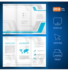 Brochure design template folder leaflet geometric vector