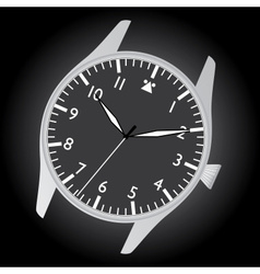 Pilot watch case and dial eps10 vector