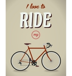 Bicycle sign beatles album famous song flat vector
