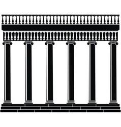 Portico colonnade vector