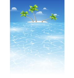 Tropical landscape by day vector