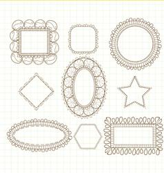 Cute doodle frames vector