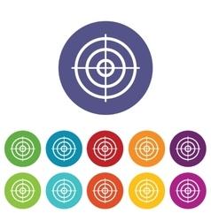 Aim icon set vector