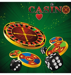 Roulette casino green vector