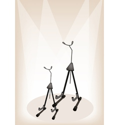 Guitar violin stand stage vector